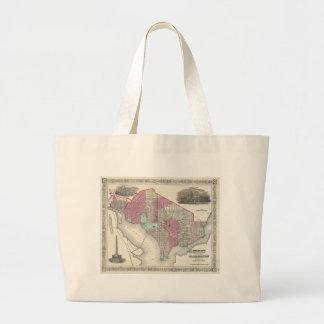 1866 Johnson Map of Washington D.C. Bag