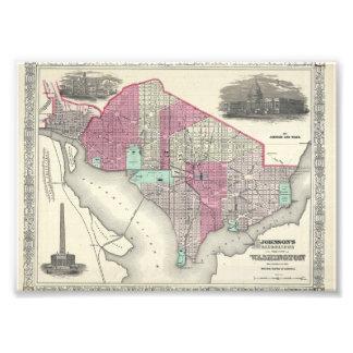1866 Johnson Map of Washington D.C. Photo