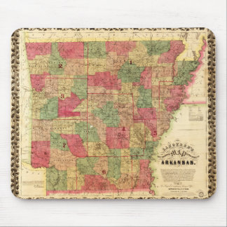 1866 Sectional Map of Arkansas by Caleb Langtree Mouse Pad