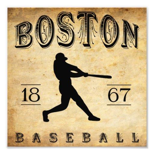 1867 Boston Massachusetts Baseball Photo