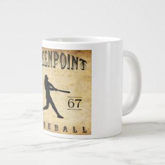 1867 Greenpoint New York Baseball Large Coffee Mug