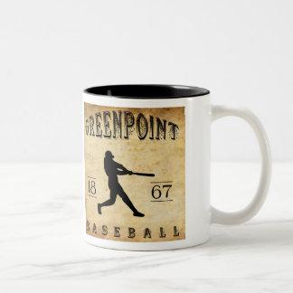 1867 Greenpoint New York Baseball Two-Tone Coffee Mug