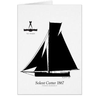 1867 solent cutter - tony fernandes card