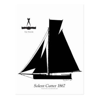 1867 solent cutter - tony fernandes postcard