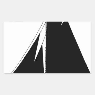 1867 solent cutter - tony fernandes rectangular sticker