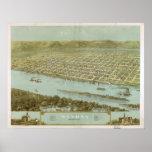 1867 Winona, mapa panorámico de la opinión de ojo  Posters