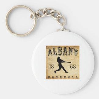 1868 Albany New York Baseball Basic Round Button Keychain