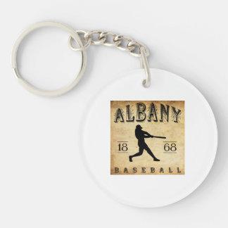 1868 Albany New York Baseball Double-Sided Round Acrylic Keychain