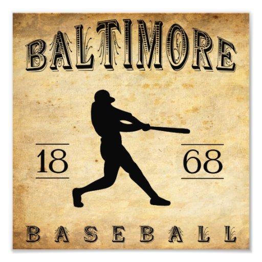 1868 Baltimore Maryland Baseball Photo Print