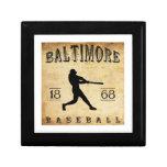 1868 Baltimore Maryland Baseball Trinket Boxes
