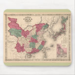 1868 Map - Johnson's China and Japan Mouse Pad
