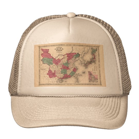 1868 Map - Johnson's China and Japan Trucker Hat