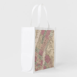 1868 Map of New York and Brooklyn Market Tote