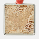 1868 United States Map Christmas Tree Ornament