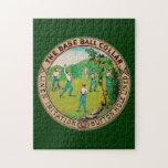 1868 Vintage Baseball Collar Logo Jigsaw Puzzles