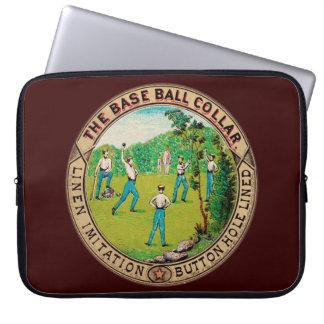 1868 Vintage Baseball Collar Logo Laptop Computer Sleeve