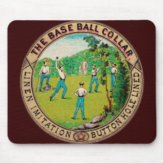 1868 Vintage Baseball Collar Logo Mouse Pad