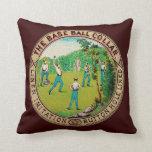 1868 Vintage Baseball Collar Logo Pillows