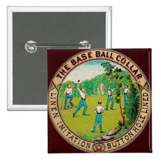 1868 Vintage Baseball Collar Logo Pinback Buttons