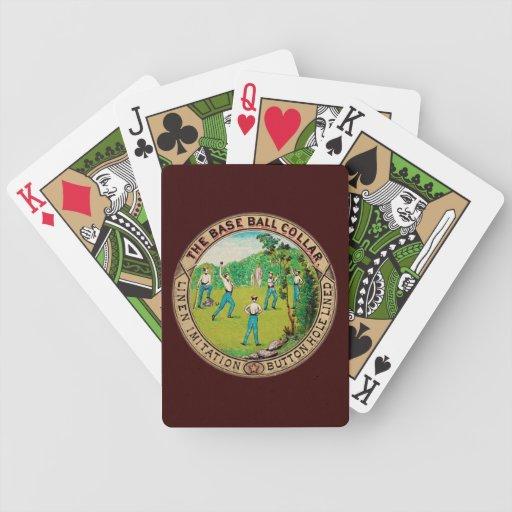 1868 Vintage Baseball Collar Logo Poker Cards