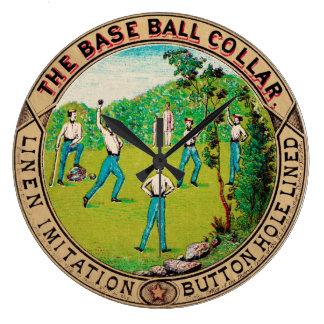 1868 Vintage Baseball Collar Logo Wallclocks