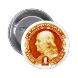 1869 Benjamin Franklin Stamp Button