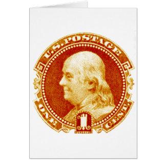 1869 Benjamin Franklin Stamp Card