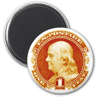 1869 Benjamin Franklin Stamp Refrigerator Magnets