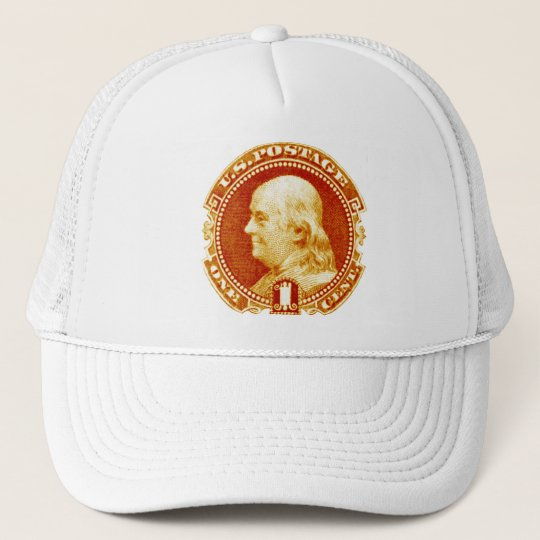 1869 Benjamin Franklin Stamp Trucker Hat