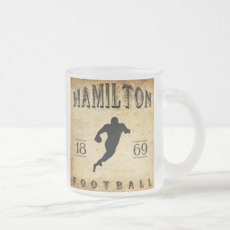 1869 Hamilton Ontario Canada Football Frosted Glass Coffee Mug