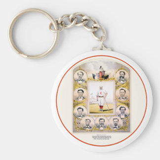 1869 Red Stockings Keychain