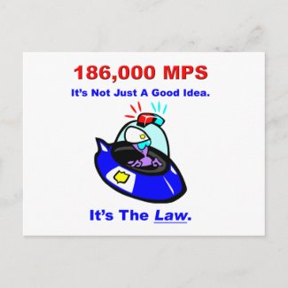 186,000 MPS Postcard postcard