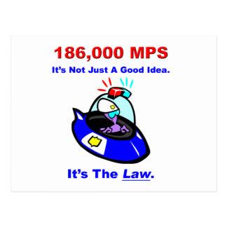 186,000 MPS Postcard