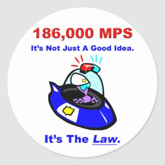 186,000 MPS Sticker sticker