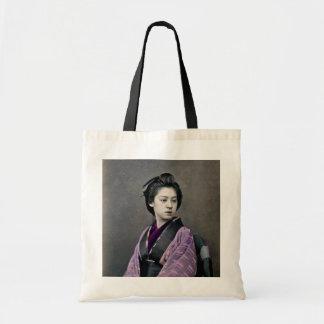 1870 Beautiful Japanese Woman Tote Bag