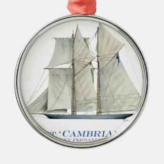 1870 Cambria Metal Ornament