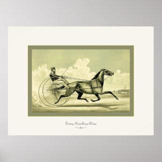 ~ 1870 de George Palmer del caballo que trota Impresiones