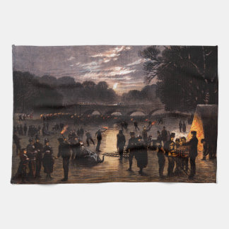 1870 Ice Skating in London Hand Towel