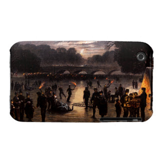 1870 Ice Skating in London iPhone 3 Cases