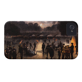1870 Ice Skating in London iPhone 4 Case