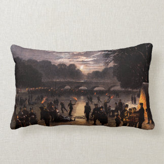 1870 Ice Skating in London Throw Pillow