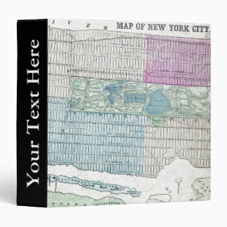 1870 Map New York City Central Park Binder