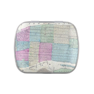 1870 Map New York City Central Park Jelly Belly Tins