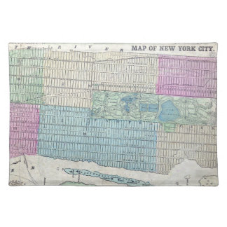 1870 Map New York City Central Park Placemat