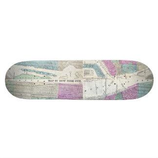 1870 Map New York City Central Park Skateboard
