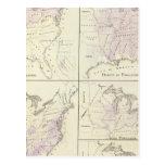 1870 mapas del censo de Estados Unidos Postales