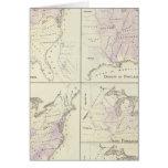 1870 mapas del censo de Estados Unidos Tarjeta De Felicitación