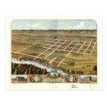 1870 nuevos Ulm, opinión de ojo de pájaros del man Tarjeta Postal