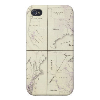 1870 United States census maps Case For iPhone 4