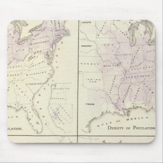1870 United States census maps Mouse Pad